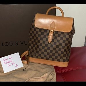 louis vuitton damier soho back pack